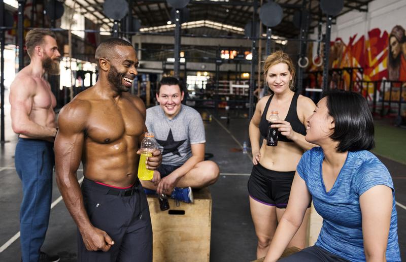 Athletes Talking Smiling