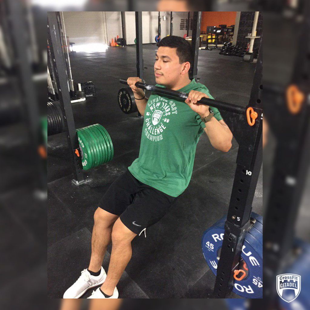 Negative Pull-Up Starting Position